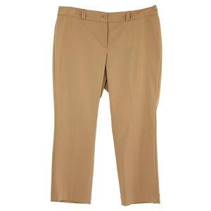 Dark Beige Tummy Slimming Slim Leg Ankle Pants
